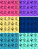 Set Paisley-Hintergründe Stockfoto