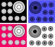 Set Paisley-Kreise stock abbildung