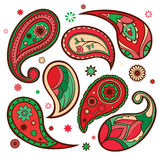 Set of paisley patterns. Stock Photos