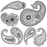 Set of Paisley patterns for design. vector illustration