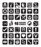Set Pakować symbole w Wektorowym formacie ilustracji