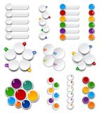 Set of Palettes. Numbered infographics list design over white Royalty Free Stock Photo