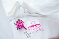 Set panna młoda karciany ścinek zawiera kartoteki maski rocznika ślub Zdjęcie Royalty Free