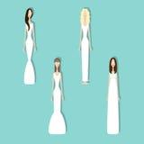 Set panny młode Zdjęcia Royalty Free