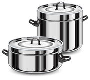 Set of pans Stock Images