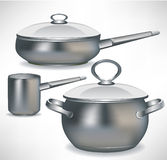 Set of pans Royalty Free Stock Images