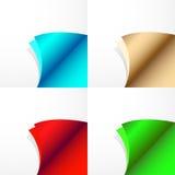 Set of papaer corners Stock Image