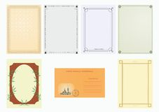 Set  of paper Royalty Free Stock Photography