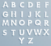 Set of paper the alphabet Royalty Free Stock Image