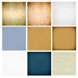 Set of paper backgrounds Royalty Free Stock Photo