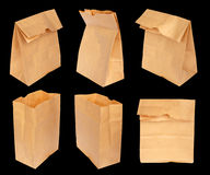 Set paper bag isolated Stock Photography