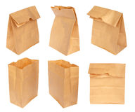 Set paper bag isolated royalty free stock photo