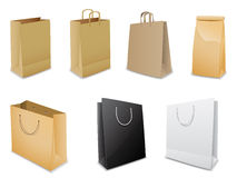 Set of paper bags Stock Images