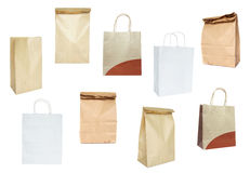 Set of paper bags Stock Photography