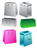 Set of paper bags Royalty Free Stock Photo