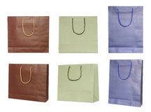 Set of paper bags Royalty Free Stock Images