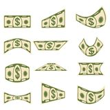 Set of paper banknotes Royalty Free Stock Photo