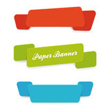 Set of paper banners with rounded corners Royalty Free Stock Photography