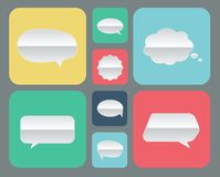 Set of paper bubbles icons Royalty Free Stock Photography