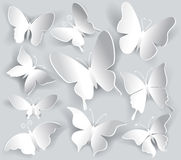 Set of paper butterfly Stock Photography