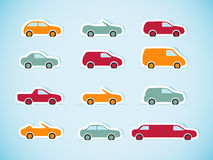 Set of paper cars. Vector illustration Stock Images