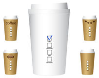 Set of paper coffee cups Royalty Free Stock Image