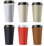 Set of paper cups Royalty Free Stock Photography