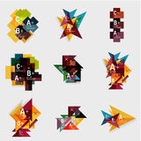Set of paper design style geometrical banners  Royalty Free Stock Photography
