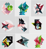 Set of paper design style geometrical banners  Stock Photos