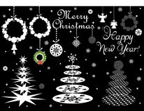 Set of paper design for winter holidays Royalty Free Stock Image