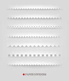 Set of paper dividers Royalty Free Stock Images