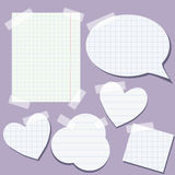 Set of paper elements Royalty Free Stock Photo