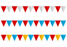 Set of  paper flags Royalty Free Stock Photography