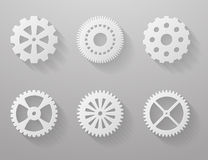 Set of paper gears Stock Image