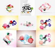 Set of paper graphic infographic modern template Stock Image