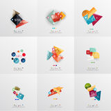 Set of paper graphic layouts Stock Photo