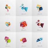 Set of paper graphic layouts Royalty Free Stock Photo