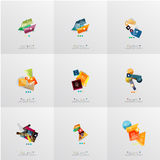 Set of paper graphic layouts Stock Photos
