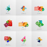 Set of paper graphic layouts Stock Photography