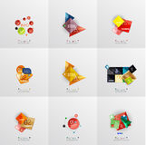 Set of paper graphic layouts Royalty Free Stock Images