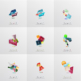 Set of paper graphic layouts Royalty Free Stock Photography