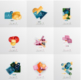 Set of paper graphic layouts Royalty Free Stock Image