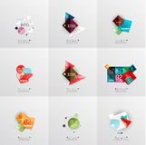 Set of paper graphic layouts Royalty Free Stock Photos
