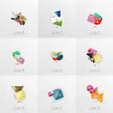 Set of paper graphic layouts Stock Image