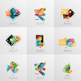 Set of paper graphic layouts Stock Images