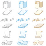 Set of paper icons Royalty Free Stock Images