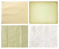 Set of paper isolated on white Stock Images