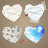 Set of paper labels Stock Images