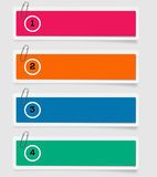 Set of paper labels - options - info graphics Royalty Free Stock Photos