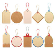 Set Of Paper Labels Stock Image